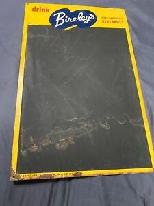 "Vintage Bireley's Soda Pop Tin Menu Board Chalk Sign 22"" x 14"""