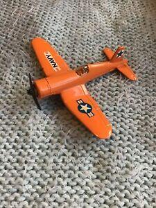 Matchbox SB16 Orange Navy Plane Corsair F4U-5N