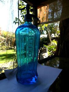 Gorgeous blue Idaho Seltzer bottle NEHI BEVERAGE CO BOISE IDAHO