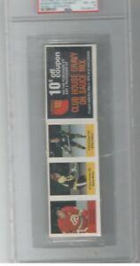 1974 NHL Action Stamps PSA 8 Pat Quinn Terry O'Reilly Rene Robert PSA 8 Panel