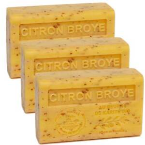 Crushed Lemon, French Soaps with Shea Butter, Savon de Marseille 3x125g
