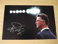 Signed Louis Van Gaal Manchester United FC 12x8 Photo