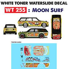 WT255 White Toner Waterslide Decals > M00N_SURF >For Custom 1:64 Hot Wheels