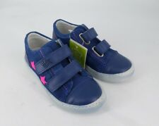DPam Blue Touch Fastening shoes with Pink Stars UK 8.5 EU 26 CH08 62