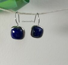 Genuine natural blue lapis lazuli in sterling silver  earring S1.2x1.2mm