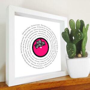 The Sex Pistols - God Save The Queen - Framed song lyrics - Punk print - Music