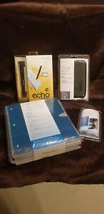 NIB Livescribe Echo Smartpen 2GB APX-00008, Deluxe Case, 4 Notebook, Headset