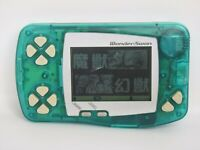 WONDERSWAN SKELETON GREEN Console System SW-001 Ref/034 Bandai ws