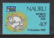 (K202-71) 1971 Nauru $1 world postage day stamp (Cs)