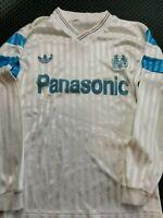 maillot  de football OM marseille ADIDAS  1990/91 vintage panasonic