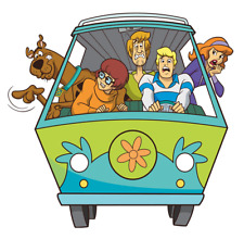 """Scooby Doo Gang Iron On Transfer 5x5"""" for LIGHT Colored Fabric"""