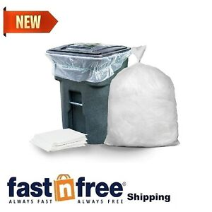 Trash Can Wheeled 96 Gal. Lid Garbage Container Outdoor Waste Bin 50 Count 25Ct
