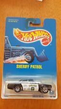 Hot Wheels 1992 SHERIFF PATROL Police Car Blue Card #59