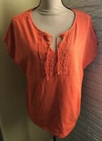 Premise XL Women's Orange Shirt ~EUC~