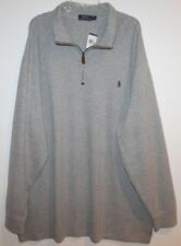 Mens Ralph Lauren Big /& Tall 1//2 Zip Cream Pullover NWT $110 3XLT 4XLT