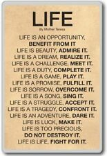 Mother Teresa Life Quote – motivational quotes fridge magnet