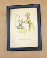 Antique Advertising Small Print Framed 1938 Perona Farm Andover NJ Baby Bath
