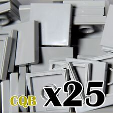 NEW LEGO - TILES - Light Bluish Gray 2x2 - x25 - 2 x 2 - medium stone grey tile
