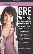 NEW GRE Wordlist: 491 Essential Words (Test Prep Series) by Vibrant Publishers