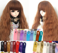 Long Curly Wig Hair Piece Blunt Bangs for BJD Ball-jointed Doll SD Super Dollfie