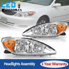 For 2002 2003 2004 Toyota Camry Headlights Headlamps Assembly Replacement Chrome