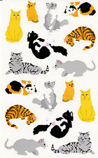 Mrs. Grossman's Giant Stickers - Cats - Calico, Tabby, Stripe Kittens - 2 Strips