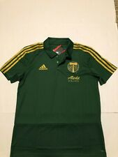 Adidas Portland Timbers Green 2018 Coaches Cllimalite Polo  NWT Size Medium