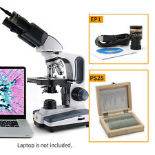 Swift 40x 2500x Compound Microscope 13mp Digital Camera 25pcs Prepared Slides