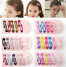 10pcs Cute Candy Color Kid Girl Hairpin BB Snap Hair Clips Hair Accessori Gift