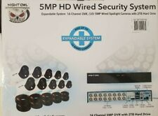 New Night Owl 16CH DVR with 10 5MP Camera Security System C-16102-50FRX 2TB