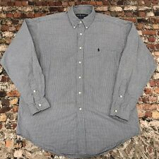 Ralph Lauren BLAKE Men's Size L Gray Plaid Button Down Long Sleeve Shirt #9C35