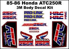 Decal Kit for a 85-86 Honda ATC 250r 3-wheeler    ATC250r ATC 250r