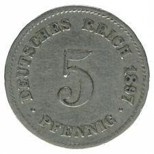 Deutsches Reich 5 Pfennig 1897 G A50328