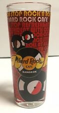 Hard Rock Cafe BANGKOK Red Glass & Coca Cola, Non Stop Rock N Roll Tall-RARE!