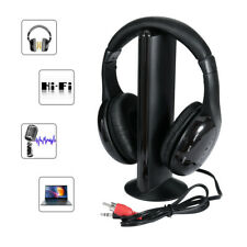 5in1 Hi-Fi Wireless Headphones Earphone Headset for PC Laptop TV FM Radio MP3 AU