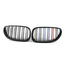 Gloss Black M-Color Double Slat Grille Fit For BMW E60 E61 5 Series 04-09 LR New