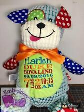 "Personalised Embroidered Keepsake Gift ""Patchwork Puppy Dog"" Teddy Bear"