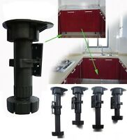 Adjustable Plastic Kitchen Bath Cabinet Leg 95mm-150mm Pack of 4 / 8 / 32 Pcs