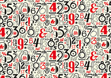 Rossi Vintage Numbers Wrapping Paper