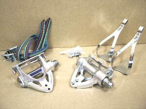New-Old-Stock Olimpic XXI Pedals w/Matching Toe Clips