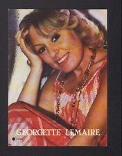 ARTISTE CHANTEUSE / Georgette LEMAIRE