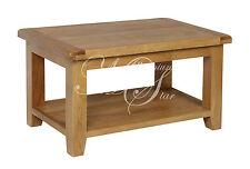 Rustic Oak Small Coffee Table With Shelf | Shrewsbury Range