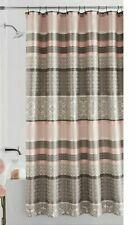 Mainstays Princeton Jacquard Fabric Shower Curtain Damask Blush Taupe Bath
