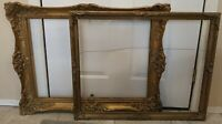 Vintage antique Lot Gold Ornate PICTURE FRAME Recycle Art Craft Deco Estate Sale
