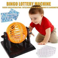 Traditional Bingo Game Family Revolving Ball Dispenser Machine Balls Cards