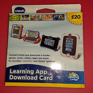 New Vtech Learning App £20 Download Card for Innotab Mobigo Storio Systems