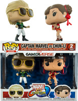 Funko POP • Captain Marvel VS Chung -Li  Marvel VS Capcom SPECIAL EDITION RARE
