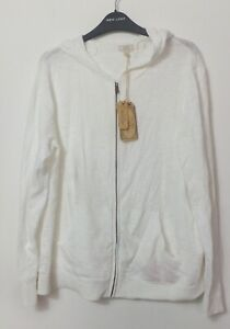 New Woman's FatFace White Organic Rosie Textured Hoodie Size UK 18 RRP £45