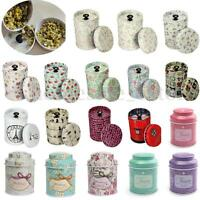 21 Pattern Flower Metal Sugar Coffee Tea Tin Jar Container Candy Sealed Cans Box