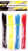 Cable Ties 120 Pcs Nylon 4  Assorted Colour Plastic Cable Tie SET 200mm